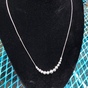 Jewelry - Sterling Silver necklace w/graduating size beads